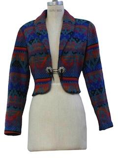 1980's Womens Southwestern Bolero Jacket