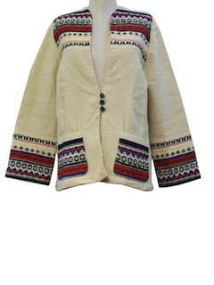 1970's Womens Norwegian Hippie Style Jacket