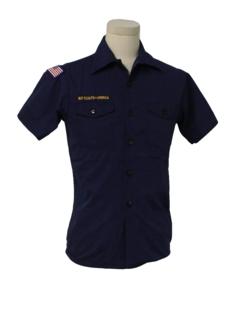 1980's Unisex Grunge Boy Scout Shirt