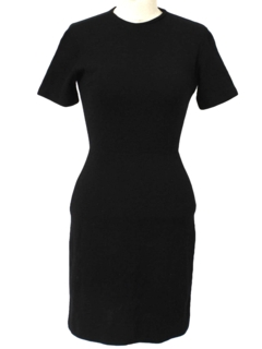 1960's Womens Little Black Day Dress