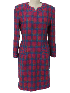 1980's Womens Mod Totally 80s Dress