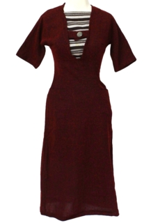 1940's Womens Fab Forties Wool Day Dress