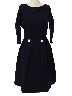 1950's Womens Fab Fifties Wool Cocktail Dress