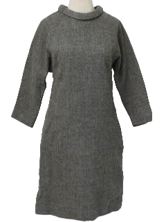 1960's Womens Wool Day Dress