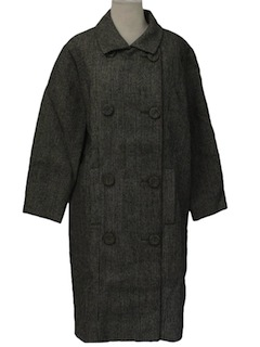 1960's Womens Designer Wool Coat Jacket