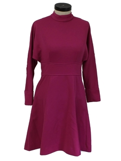 1960's Womens Mod Designer Knit Dress