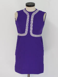 1960's Womens Mini Knit Go-Go Dress