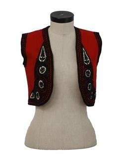 1970's Womens Tyrolean Bavarian Style Oktoberfest Vest