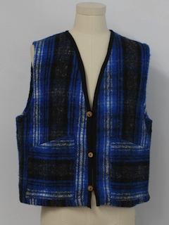 1980's Unisex Flannel Vest