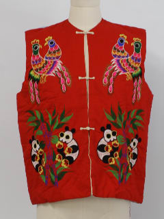 1980's Womens Asian Style Embroidered Vest