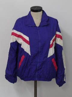 1990's Womens Track Style Oversized Windbreaker Jacket