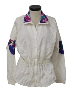 1990's Womens Golden Girls Style Windbreaker Jacket