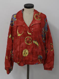 1990's Womens Hip Hop Oversized Windbreaker Jacket