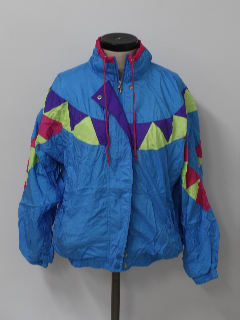 1990's Womens Hip Hop Oversized Track Style Windbreaker Jacket
