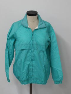 1980's Womens Totally 80s Track Style Windbreaker Jacket