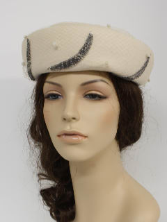 1950's Womens Accessories - Designer Hat