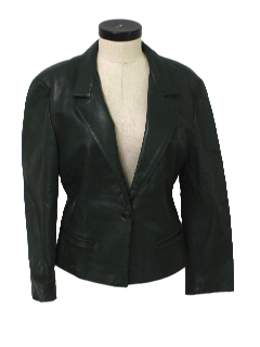 1960's Womens Mod Leather Jacket