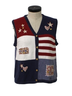 1990's Womens Cheesy Ugly Sweater Vest