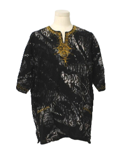 1990's Mens Dashiki Style Hippie Shirt