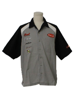 1990's Mens Racing Style Work Shirt