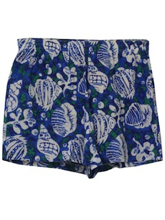 1990's Womens Wicked 90s Hawaiian inpsired Swim Shorts