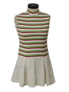 1960's Womens Knit Mini Dress