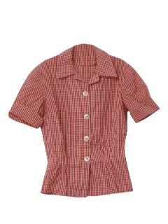 1950's Womens Rockabilly Fab Fifties Shirt
