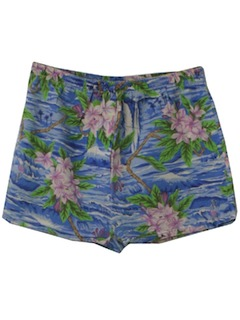 1970's Womens Hawaiian Shorts