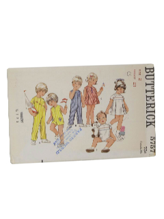 1960's Unisex/Childs Pattern
