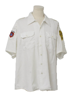 1980's Mens Grunge Work Shirt