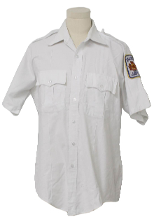 1980's Mens Police Style Work Shirt