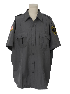 1990's Mens Security Style Work Shirt