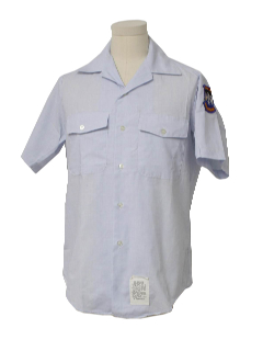 1990's Mens Military Style Work Shirt