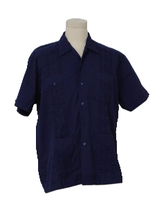 1980's Mens Guayabera Shirt