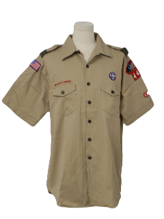1970's Mens Uniform Shirt