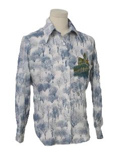 1970's Unisex Print Disco Shirt