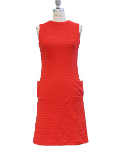 1970's Womens Knit A-line Mod Dress