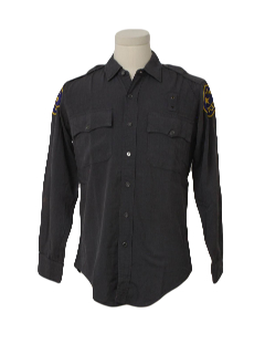 1960's Mens Rent-A-Cop Work Shirt
