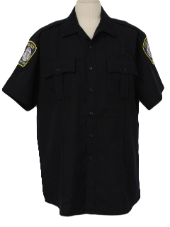 1990's Mens Police Work Shirt