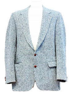 1980's Mens Wool Harris Tweed Blazer Sport Coat Jacket
