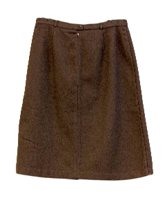 1970's Womens Mod Wool Skirt