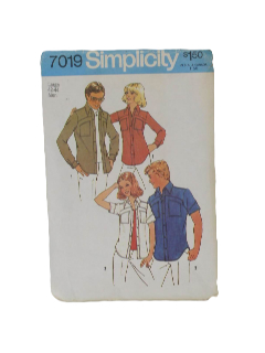 1970's Unisex Sewing Pattern