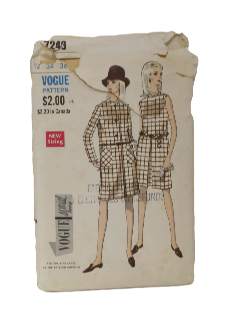 1960's Womens Dress & Jacket Pattern