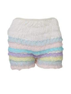 1960's Womens Lingerie - Ruffled Square Dancing Bloomers Panties