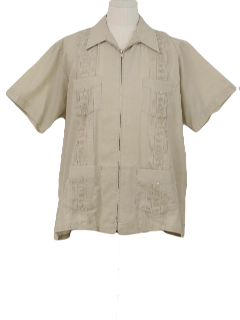 1990's Mens Guayabera Shirt