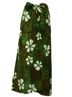 1960's Womens Hawaiian Skirt