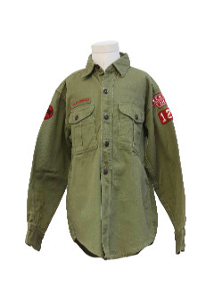 1960's Mens/Boys Boy Scout Shirt