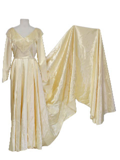 1950's Womens Vintage Wedding Maxi Dress