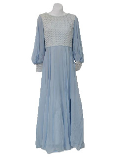 1960's Womens Designer Cocktail  Maxi Dress