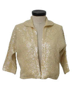 1950's Womens Beaded Cocktail Cardigan Jacket